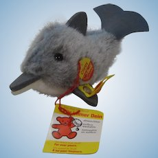 Steiff Soft Plush Clippy Dolphin With All IDs