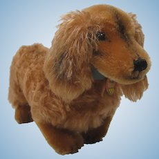 Steiff Smallest Postwar Waldi Dachshund Dog With IDs