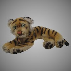 Steiff Smallest Lying Mohair Tiger With ID