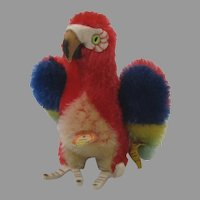 Steiff Smallest Mohair Lora Parrot With All IDs