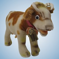 Steiff Medium Mohair Bessy Cow With All IDs
