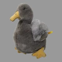 Steiff Grey Soft Plush House Duck With IDs