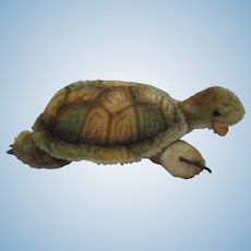 Steiff Largest Mohair Slo Turtle With IDs