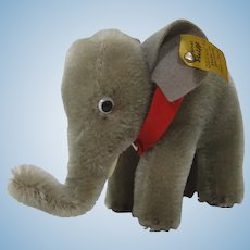 Steiff Smaller Mohair Elephant With IDs