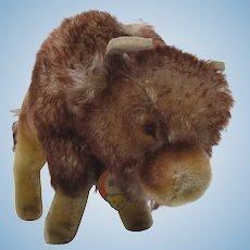 Steiff Medium Bison Buffalo With ID