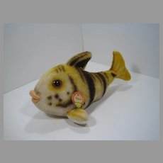 Steiff Medium Sized Tiger Flossy Fish With IDs