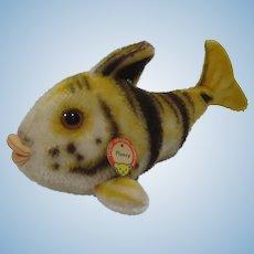 Steiff Medium Sized Tiger Flossy Fish With IDs