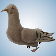 Steiff Grey Mohair Pigeon Bird With IDs
