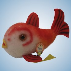 Steiff Red Flossy Fish With All IDs