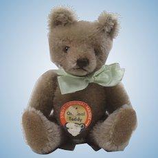 Steiff Smaller Caramel Mohair Original Teddy Bear With ID