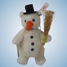 Steiff Little Snowman Christmas Ornament With IDs