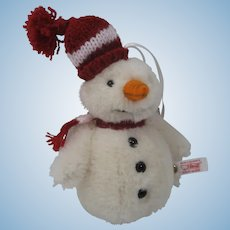 Steiff Snowman Christmas Ornament With IDs