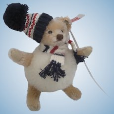 Steiff Teddy Bear Snowball Christmas Ornament With IDs