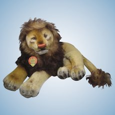 Steiff Largest Lying Leo Lion With All IDs