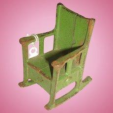 Kilgore Cast Iron Rocking Chair Doll House Furniture