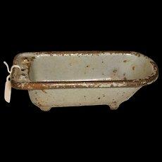 Kilgore Cast Iron Footed Bath Tub Doll House Furniture
