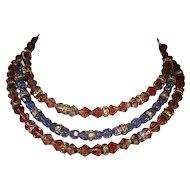 Beautiful EARLY Hobe Crystal Bead Collar Necklace