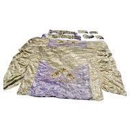 Beautiful Hollywood Glamour Satin & Chenille Bedspread Set