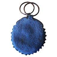 Vintage Crochet Wrist Purse with Bakelite Handles