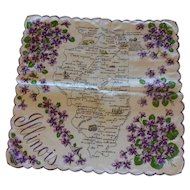 Vintage Franshaw Illinois State Handkerchief