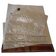 Set of 5 Genuine Nottingham Leavers Lace Placemats