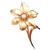 """Vintage Boucher """"Flower of the Month"""" Narcissus Pin"""