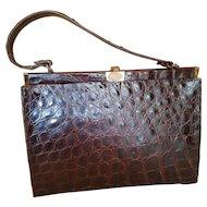Vintage Alligator Hand Bag Purse
