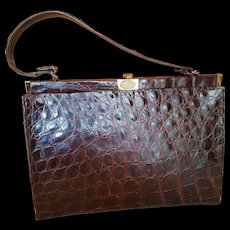 Vintage Alligator Hand Bag Purse