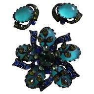Vintage Signed Selini Japanned Jelly Stone Set