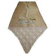 Arts & Crafts Chenille & Crochet Table Runner