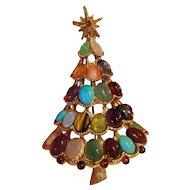 Swoboda Gemstone Christmas Tree Pin