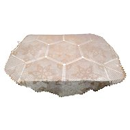 Round 64 inch Tatting Lace Tablecloth