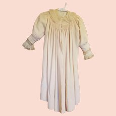 Beautiful Silk Toddler Size Child's Coat Net Lace Collar & Sleeves