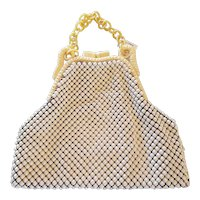 Art Deco Whiting & Davis Co. Alumesh Celluloid & Mesh Hand Bag Purse