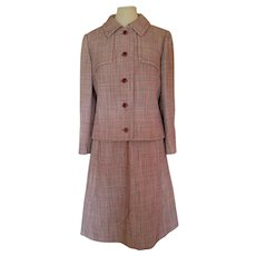 Vintage 1960s Christian Dior New York Houndstooth Women's Suit