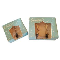 Rare Jewelry by Emmons Interlude Necklace and Earrings Set in Original Boxes 1961
