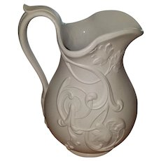 Victorian Relief Moulded Napier Grape Vine Jug Pitcher