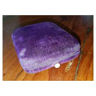 Royal Purple Velvet Jewelry Presentation Box Mother of Pearl Clasp