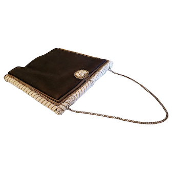 Beautiful French Beaded Frame Handbag