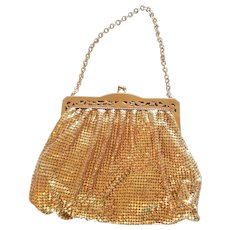 Vintage Whiting & Davis Gold-Toned Mesh Handbag Purse