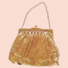 Vintage Whiting & Davis Gold-Toned Mesh Handbag Purse