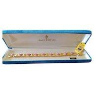 Vintage Jewels by Trifari October Rose Rhinestone Birthstone Bracelet