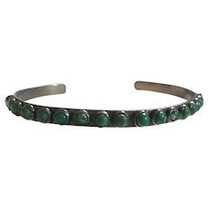 Fred Harvey Era Native American Green Turquoise Bracelet