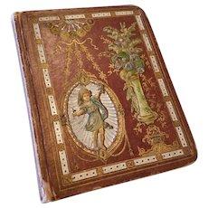Antique Victorian 1880 Scrapbook Tradecards Diecuts