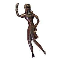 Vintage Sterling Figural Dancing Lady Brooch