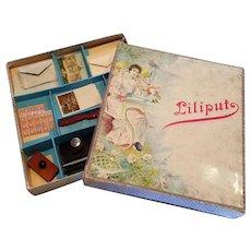 Miniature Doll Liliput German Desk Set Original Stationary
