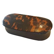 Early Faux Tortoise Laquer Gentleman's Snuff Box