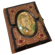 Beautiful 1800s Jeweled Photograph Photo Album