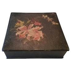 Victorian Lacquered Orchid Box