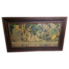 "Maxfield Parrish ""The Garden of Allah"" Medium Sized Framed Print"